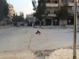 Two Heroic Citizens Retrieve A Young Victim Of Assad's Sniper Terrorists: Aleppo Feb 23rd, '14
