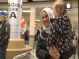 The Tonbari Family Of Syrian Refugees Arrive In Canada