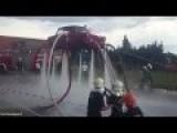 Trabant 'flies' As Firemen Pump Soviet-era Car Full Of Water