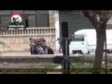 Terrorists Using Children To Fire Mortars At The Syrian Arab Army