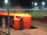 Truck Race Roll Over At Spartan Speedway