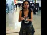Tomer Sisley Handcuffs His Girlfriend In An Airport