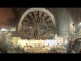 Tunnel Boring Machine Burial Time Lapse