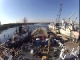 Time Lapse Of Coast Guard Cutter Hollyhock Travelling From Baltimore To The Great Lakes