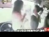 Thugs Give A Female Bus Driver A Stompin