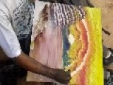 Talented Man Uses His Hands To Paint