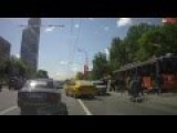 Teenagers Hit By Tram Caught On Dashcam
