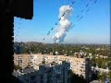 The Donetsk Ammunition Factory Fire Seen From Multiple Camera Angles Oct 20th, '14