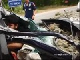 Thai Guy Crashed Into A Truck Full Of Manure