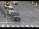 Traffic Cop Takes Ride On Bonnet