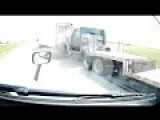 Trucker Slams Back Of Trailer