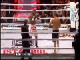 Turkey - Kickboxer Breaks Leg During Fight 12 04