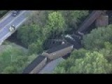 Train Hauling Coal Derails In Rural Texas - Raw Video