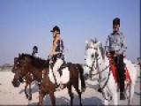 Tourists Riding Horses At Kish Island, Iran