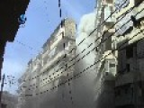 The Moment The Second Barrel Falls In Aleppo