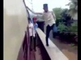 Terrible Acts Hindi Child Swinging On A Train