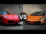 Twin Turbo Ferrari F430 Spider Vs Lamborghini Gallardo LP570-4 Superleggera Drag Race