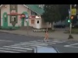 Two Hot Russian Girls Cause Accident