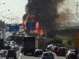 Truck Crash Causes Massive Fire On Central Highway, One Of The Drivers Killed