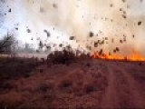 Tumbleweeds Invade Dust Devil And Turn Into A Firestorm At Controlled Burn!
