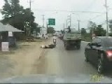 Thai Biker Gets Knocked Out After Being Cut Off By Fellow Biker