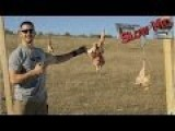 The Judge 410 Revolver Vs. Chickens In SLOW MOTION
