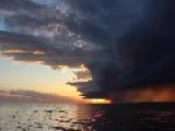 Timelapse Shows Storm On Lake Winnipeg At Sunset