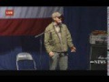 Ted Nugent Speaks At Donald Trump Rally, Sterling Heights, MI, 11:6:16