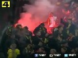 Turkish Fans Throw Flares And Fireworks During Football Match