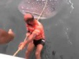 The Moment Two Absolute Idiots Attempted To SURF On A Whale Shark