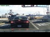Truck Totally Ignores Rail Road Crossing Signals, And Pays The Price