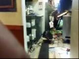 Tornado Slams Roof Into Pizza Hut Diner In Alexandria, LA