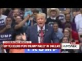 Trump Opens Up Texas Speech By Directing Crowd's Attention To Stage: 'Do You Notice What's Missing?'