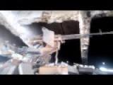 Tank T72B Under The Bridge In Donetsk