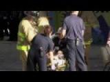 Truck Plunges Off Bridge - Raw Video