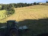 Timelapse Video Of Farmer Cutting Grass