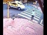 Taxi Slams Into Woman Crossing Street In Brazil