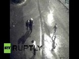 Turkey: CCTV Camera TURNS AWAY The Moment Police Assault Protester