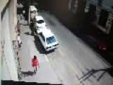 Thief Gets His Ass Kicked. Literally