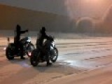 Tough Bikers - Taking A Ride In A Snowstorm