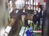 Terrifying Moment Gang Wielding AK-47s And Sledgehammers Ransacks Jewellery Store
