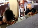 Twins Fall Asleep In Their Spaghetti - LOL