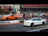 Toyota Supra Vs Nissan Skyline GTR R34 Drag Race