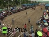 Thailand: Let's Go, Buffalo! Riders Race It Out In 100-metre Sprint