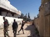 Throwing A Bomb Fail And Almost Killed Some FSA Terrorists + Slowmotion