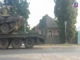 Tanks Being Moved Through Russia With Inscriptions Reading For Donbass , For The Motherland