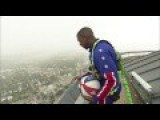 This Harlem Globetrotter's Trick Shot From 583 Feet Up In The Air Is Incredible