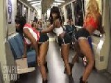 Three GIRLS TWERK All Over San Francisco = In Public =