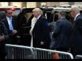Trump Arrives To Vote In NYC To Cheering Crowds