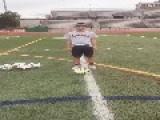 Teen Kicks Ball Into Friend's Face